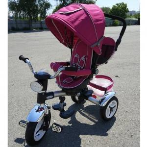 Велосипед My Mumi 5888 с толкателем.ч фарой фиолетовый