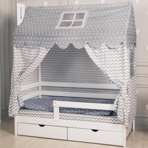 """Комплект для кроватки-домик Incanto """"Домик"""" серый арт. 20101"""