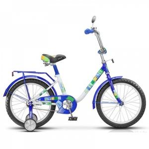 """Велосипед 18"""" STELS Flash 11"""" синий/белый"""