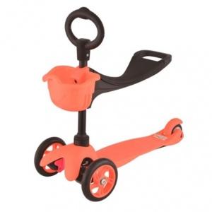 Самокат 21st Scooter SKL-06В Maxi Scooter 3-х колёсный с сиденьем (Оранжевый (Orange))