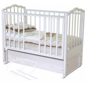 Кровать Можга С-676 Ангелина, маятник прод, ящ, белая