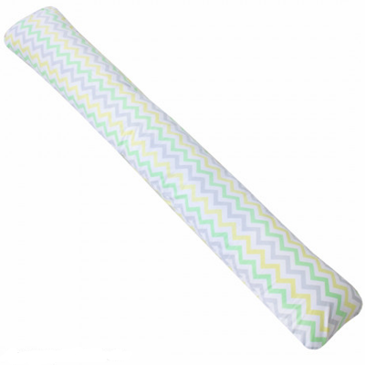 Наволочка на подушку для беременных Крошкин Дом форма I (190*35 см) (серые зигза