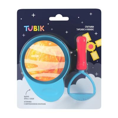 """Миска TUBIK """"Спутники Тарелкус и Мялкус"""", с прибором для измельчения арт.15812"""
