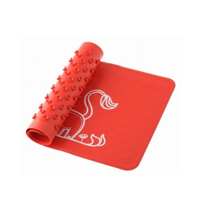 Коврик ROXY-KIDS BM-M164R антискользящий резиновый для ванны, 34х58 см (красный)