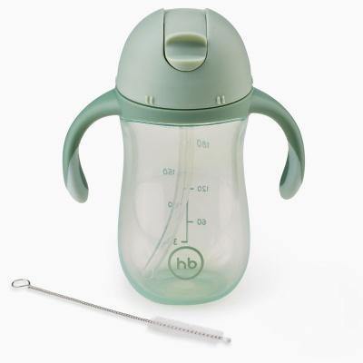 Поильник Happy Baby 14010 с трубочкой и ручками 260мл. 2.0 (olive)