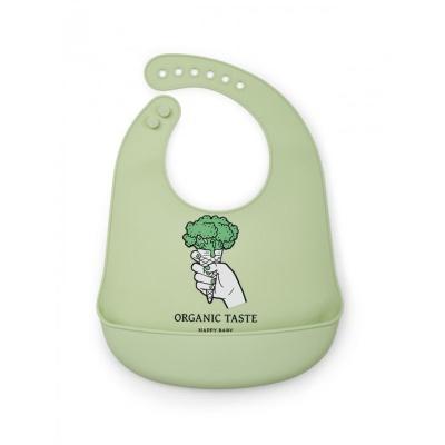 Нагрудник Happy Baby 16006 силиконовый (green)