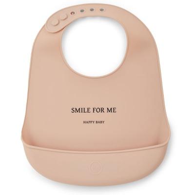 Нагрудник Happy Baby 16006 силиконовый (nude)