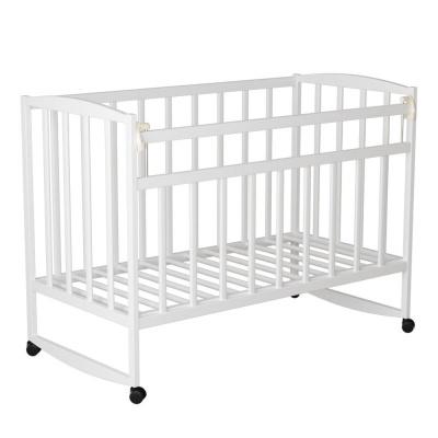 Кровать ВДК Magico mini (Кр1-02 м) колесо/качалка, белый