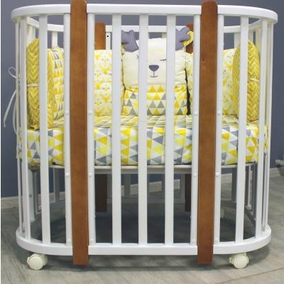 """Кровать Incanto """"Nuvola LUX"""" (белый,  стойки бук)"""
