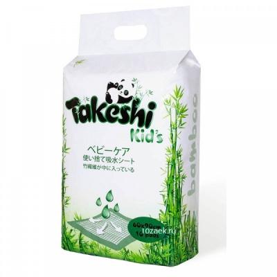 Пеленки TAKESHI KID'S впитывающие для детей бамбуковые 60*90 10 шт
