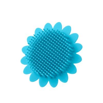 Губка для тела ROXY-KIDS силиконовая (подсолнух). RSB-001 голубой