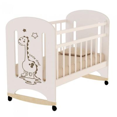 Кровать ВДК DINO колесо/качалка, слон.кость