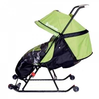 Санки-коляска Дэми СДП-02.02 (зеленый)