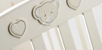Кровать Erbesi Abbraccio Ivory (слон.кость), Swarovski