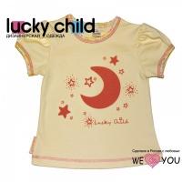 Пижама детская для девочек: футболка и штанишки (арт. 12-402) (р. 28 (92-98)) Лаки Чайлд