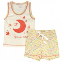 Комплект белья детский для девочек: шорты и майка (арт. 12-410) (р. 32 (128-134)) Лаки Чайлд