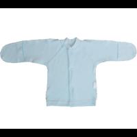 Кофточка Папитто И37-203н на кнопках (интерлок) однотонный голубой р.18-50