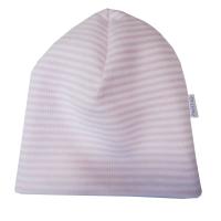 Шапочка Папитто 49-031селаник начес розовая полоска р.40
