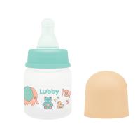 """Бутылочка Lubby 16588 с соской """"Малыши и малышки"""", от 0 мес., 60 мл., классика,"""