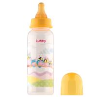 """Бутылочка Lubby 13564 с соской """"Веселые животные"""", от 0 мес.,250мл.,полипропилен"""