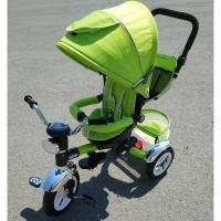 Велосипед My Mumi 5899-1 с толкателем. регул спинка,фиксатор колеса зеленый