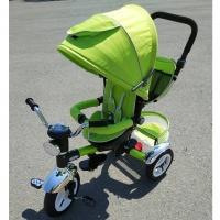 Велосипед My Mumi 5888 с толкателем.ч фарой зеленый