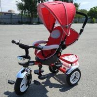 Велосипед My Mumi 5899-1 с толкателем. регул спинка,фиксатор колеса красный