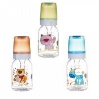 Бутылочка тритановая Canpol (BPA 0%) с сил. соской, 120 мл. 3+ Cheerful animals 210204023