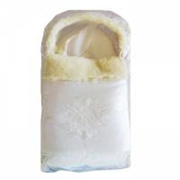 Комплект на выписку Папитто 2141 Снежинка белый на меху 2 пр.