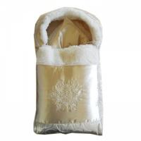 Комплект на выписку Папитто 2141 Снежинка золотой на меху 2 пр.