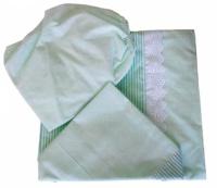 Постельное белье  Папитто 6044 147х112 комбинированное с шитьем салатовый