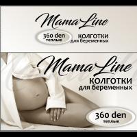Колготки д/берем. MamaLine 806 360 den акрил (шерсть) черный р. 4