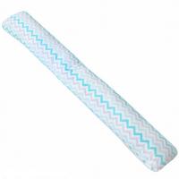 Наволочка на подушку для беременных Крошкин Дом форма I (190*35 см) (мятные зигз