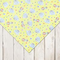 Пеленка трикотажная теплая Веселый малыш 120*90 (Воздушный шар)