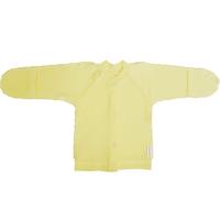 Кофточка Папитто И37-203н на кнопках (интерлок) однотонный желтый р.18-50