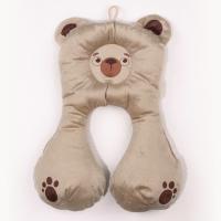 Подушка дорожная Крошкин дом для автокресла (Медвежонок бежевый)
