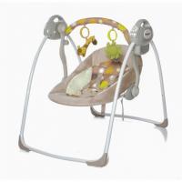 Электрокачели Baby Care Riva с адаптером (коричневый)