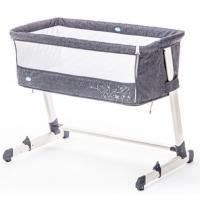 Кровать Nuovita детская приставная Accanto (Grigio scuro Lino/Темно-серый лён)