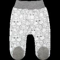 Ползунки Топотушки 3113-62 серый с закрытыми ножками на широкой резинке
