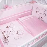 """Борт Крошкин Дом """"Шоколадный мишка"""" (розовый)"""