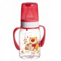 Бутылочка тритановая Canpol (BPA 0%) с ручками с сил. соской, 120 мл.3+ Cheerful animals 210204011