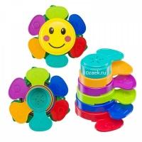 """Набор игрушек для ванной Happy Baby """"FLOWER PUZZLE"""" 330641"""