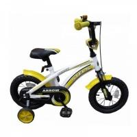 "Велосипед 12"" STELS Arrow 8.5"" белый/жёлтый/чёрный"