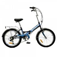 "Велосипед 20"" STELS Pilot-350 13"" 6 скор. тёмно-синий/голубой"