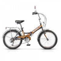 """Велосипед 20"""" STELS Pilot-350 13"""" 6 скор. чёрный/оранжевый"""