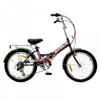 """Велосипед 20"""" STELS Pilot-350 13"""" 6 скор. чёрный/красный"""