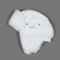 Шапка-ушанка Ё-маё 51-900 (s) белый текстильная с мехом