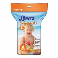 ЛИБЕРО Подгузн-Трусики для Плаванья (7-12 кг)*6шт
