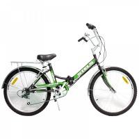 """Велосипед 24"""" STELS Pilot-750 16"""" 6 скор. чёрный/зелёный"""