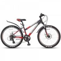 """Велосипед 24"""" STELS Navigator-470 MD 14"""" 21 скор. тёмно-серый/красный/серебристый"""